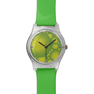 The Green bubbles Wrist Watch