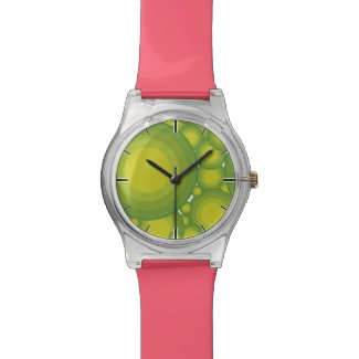 The Green bubbles Wristwatch