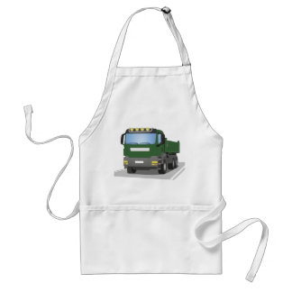 the Green building sites truck Adult Apron