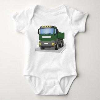 the Green building sites truck Baby Bodysuit