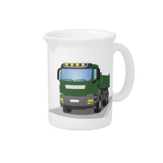 the Green building sites truck Drink Pitcher