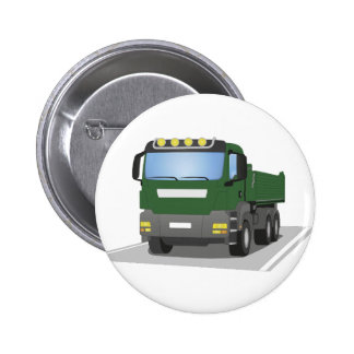 the Green building sites truck Pinback Button