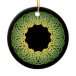 The Green Celtic Circle Knotwork Ornaments 1
