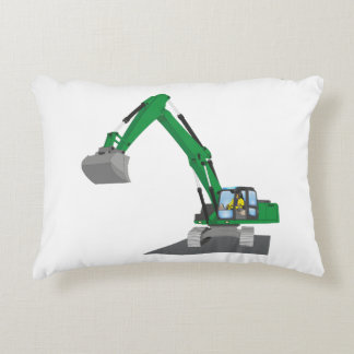 the Green chain excavator Accent Pillow