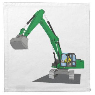 the Green chain excavator Cloth Napkin