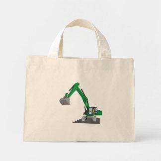 the Green chain excavator Mini Tote Bag