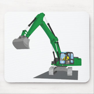 the Green chain excavator Mouse Pad