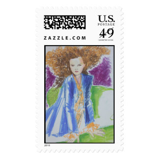 The Green Couch Postage Stamp