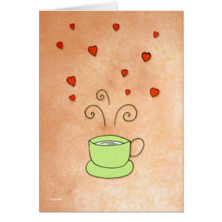 The Green Cup of Love Card