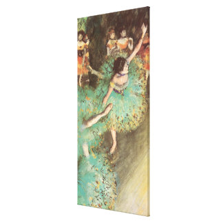 The Green Dancer by Edgar Degas, Vintage Ballet Canvas Print