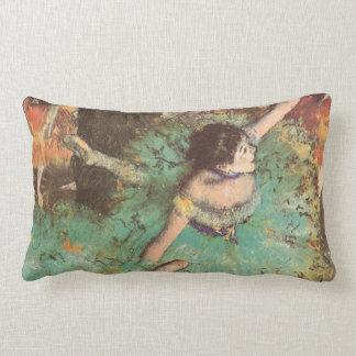 The Green Dancer by Edgar Degas, Vintage Ballet Lumbar Pillow
