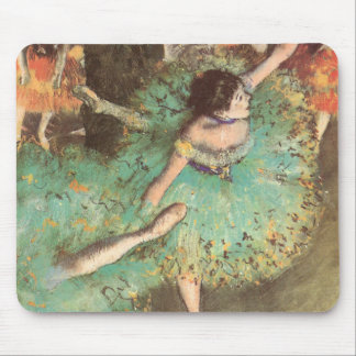 The Green Dancer by Edgar Degas, Vintage Ballet Mouse Pad
