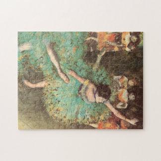 The Green Dancer by Edgar Degas, Vintage Ballet Puzzle