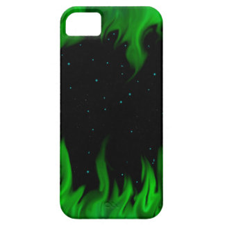 The Green de flames at the starlit sky Funda Para iPhone 5 Barely There
