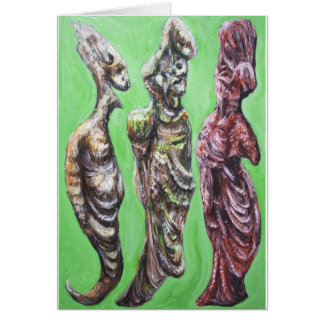 The Green Dialogue (Plato, Socrates and his wife) Card