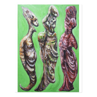 The Green Dialogue (Plato, Socrates and his wife) Postcard
