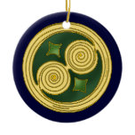 The Green Double Spiral Celtic Ornament