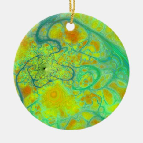 The Green Earth – Teal & Gold Tides 2 sides Ceramic Ornament