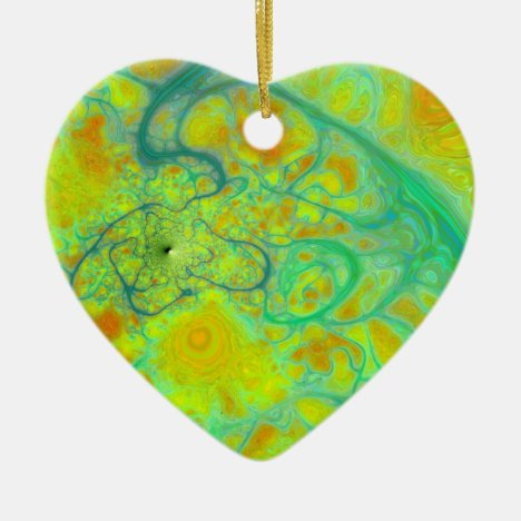 The Green Earth – Teal & Gold Tides Ceramic Ornament