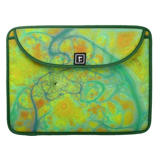 The Green Earth – Teal & Gold Tides MacBook Pro Sleeve