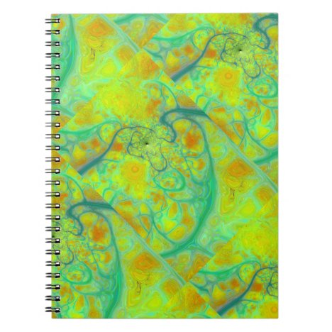 The Green Earth – Teal & Gold Tides Notebook
