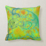 The Green Earth – Teal & Gold Tides Pillow