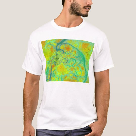 The Green Earth – Teal & Gold Tides T-Shirt
