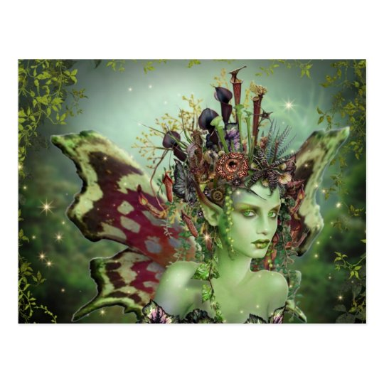 The Green Faerie Postcard