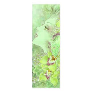 The Green Faery Bookmark Business Card Template