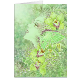 The Green Faery Greeting Card