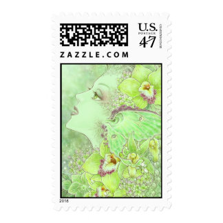 The Green Faery Postage Stamp