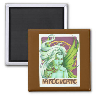 The Green Fairy 2 Inch Square Magnet