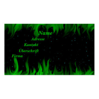 The Green flames at the starlit sky Double-Sided Standard Business Cards (Pack Of 100)