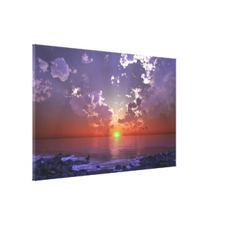 The Green Flash Stretched Canvas Print
