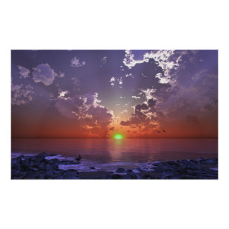 The Green Flash Poster