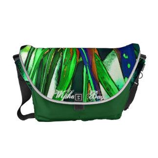 The Green Flower Bag Messenger Bags