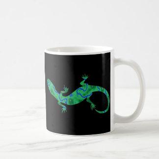 The Green Gecko kind Deco black and white Design Coffee Mug