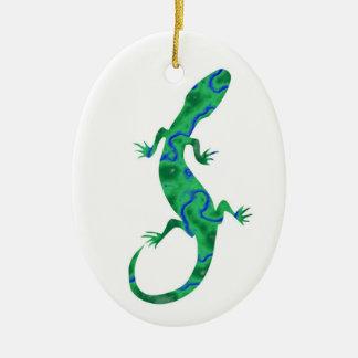 The Green Gecko kind Deco Ceramic Ornament
