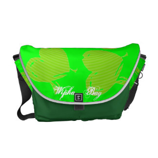 The Green heart  Bag Courier Bags