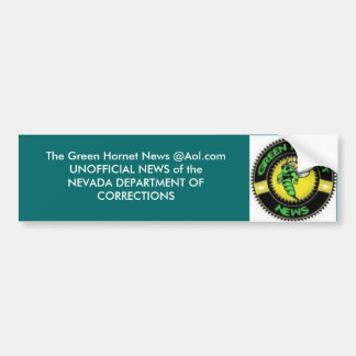 THE GREEN HORNET NEWS CAR BUMPER STICKER