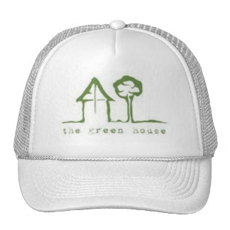 The Green House Hat White