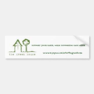 The Green House Sticker Car Bumper Sticker