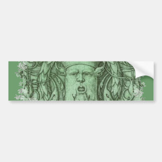 The Green Man Bumper Sticker