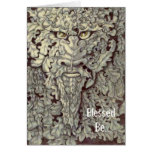 'The Green Man' by Daryll Billington Greeting Card