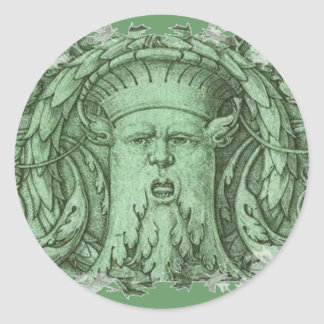 The Green Man Classic Round Sticker