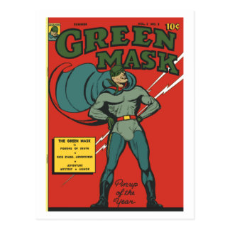 The Green Mask Comic Book Postcard
