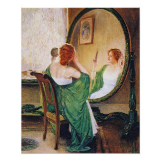 The Green Mirror, Guy Rose Poster