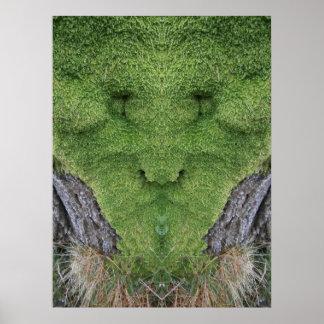 The Green Moss Man Poster