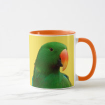 """The Green Orator"" Eclectus Parrot Mug"