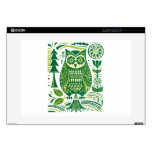 The Green Owl Decals For Laptops